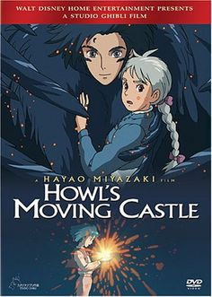 Howl's Moving Castle. I loved this movie the first time I saw it! Then I had a new found appreciation for it when I found out the all-star cast who did the voicing. Christian Bale as Howl, Jean Simmons as Grandma Sophie, Emily Mortimer as Young Sophie, Lauren Bacall as the Witch of the Waste, Josh Hutcherson as Markl, and Billy Crystal as Calcifer! WOAH!!! What a cast!!!