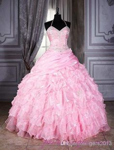 Wholesale Wedding Dress - Buy New Style Wedding Dress Hot on Sale Pink Sweetheart Tiered Ruffle Sequin Shining Wedding Dresses Wedding Event...