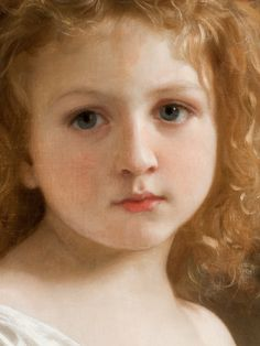 The Story Book (detail) / William-Adolphe Bouguereau / Oil on canvas, 1877 / Los Angeles County Museum of Art