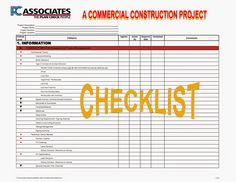On the whole, a lot of things have to be kept in mind before, after as well as at the time of construction in order to make sure that every single thing is being done perfectly.  http://construction-project-review.blogspot.com/2015/01/following-construction-project-checklist.html
