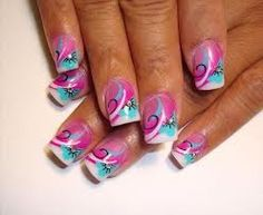 Cute airbrush nails
