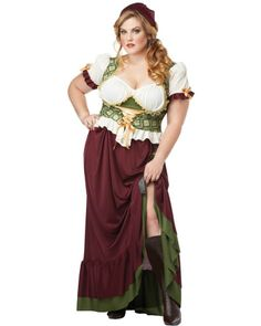 Renaissance Wench Womens Plus Size Costume
