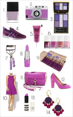 1. Butter London Molly-Coddled – Nail Polish // 2. Gizmon iPhone Case // 3. Yves Saint Laurent Ombres 5 Lumières Lilac Sky // 4. Onitsuka Ti...