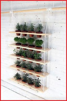 Fabulous DIY Vertical Garden Design Ideas Do you have a blank wall? do you want to decorate it? the best way to that is to create a vertical garden wall inside your home. A vertical garden wall, also called a… Continue Reading → Garden Ideas To Make, Diy Garden, Herbs Garden, Jardim Vertical Diy, Jardin Vertical Artificial, Culture D'herbes, Hanging Herbs, Diy Hanging, Vertical Garden Design