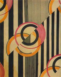 Liubov Popova, textile design, 1924