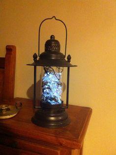 My version. Fill a lantern with solar fairy lights Solar Fairy Lights, Lanterns, Fill, Glow, Lighting, Garden, Home Decor, Garten, Decoration Home