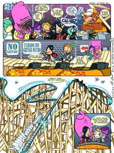 Alan Alien - Pagina 24 - Publicada en la revista infantil PIN - Guion & Arte (realizado de forma digital)