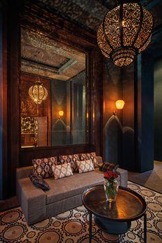 O principal bar do hotel - Conheça o Royal Palm Marrakech