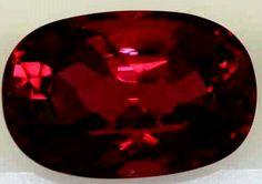 Brilliant red gemstone