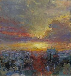 From John Martin Gallery, Andrew Gifford, Ramallah Evening VI Oil on Panel, 6 × 6 in Abstract Landscape, Landscape Paintings, Abstract Art, Urban Landscape, Abstract Paintings, Great Paintings, Online Art Gallery, All Art, Modern Art