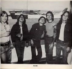 AC/DC leaving Australia for the first time - Sydney Airport, april 1976