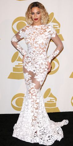 12 Times Beyonce Dressed Like an Actual Bride - 2014 Grammy Awards from InStyle.com
