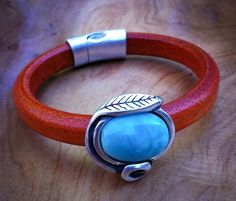 Leather with Turquoise Color slide