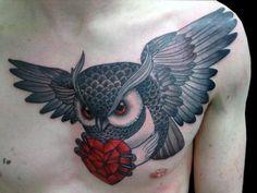 awesome owl tattoo