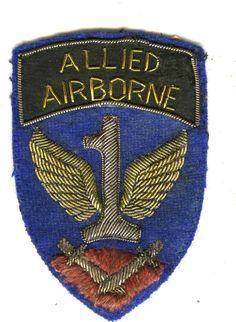 Bullion style 1st Allied Airborne Shoulder Sleeve Insignia