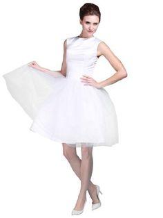 Topwedding Robe de mariee courte sans manches avec une jupe de mode de bal Topwedding, http://www.amazon.fr/dp/B00A7PHG1O/ref=cm_sw_r_pi_dp_iM1Krb0GATVEB