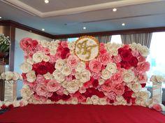 Paper backdrop Paper flower Paper wedding