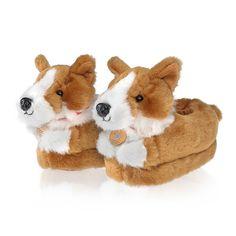 Oh I need a pair!!! - Buckingham Palace Corgi Slippers