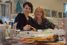 SPECIAL VISIT: Polish artist Aida Domisiewicz held her only Australian classes at Vicki Christensen's shop at Encounter Bay earlier this week. Photo: Dani Brown.