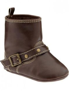 Leather booties for baby from Old Navy #fall