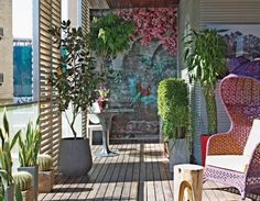 Eclectic decks and patios