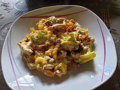 Gyro casserole with Hollandaise sauce from Hollandaise Sauce, Baked Potato, Salad Recipes, Potato Salad, Cauliflower, Casserole, Cabbage, Low Carb, Pasta