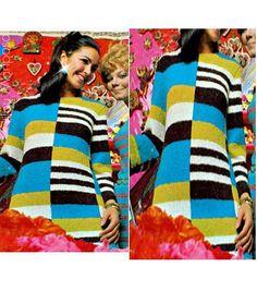 Vintage Knitting Pattern-60s Tortuga Dress by Liloumariposa