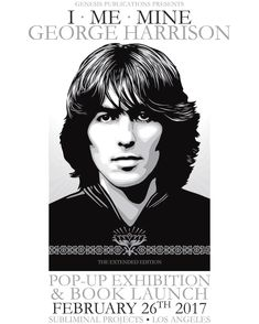 """Check out our account @cbartists and website for more .  . """"#LosAngeles: In honor of #GeorgeHarrison's birthday and the release of """"I Me Mine"""" (Extended Edition), @genesis_publications is hosting a pop-up exhibition and sale at my gallery @subliminalprojects this Sunday, February 26 from 12pm-6pm. The exhibition will include George Harrison's handwritten lyrics and personal commentary on his songs, pictures from family albums, and original portraits I created of him. The first 100 cu.."""