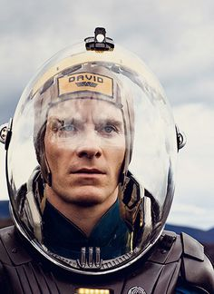Prometheus.  Michael Fassbender by Brigitte Lacombe.