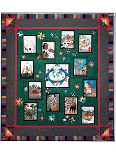Piecemakers 2004 Times And Seasons Calendar and Quilt Book – Piecemakers Country Store homes world universe animals