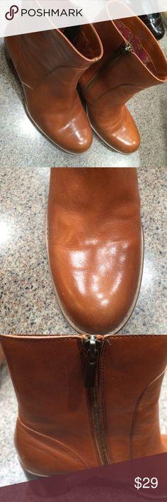 "Liz Claiborne Flex short leather boot 2.5"" heel on leather boot with inside zip Liz Claiborne Shoes Ankle Boots & Booties"