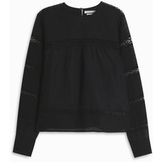 ISABEL MARANT ETOILE Rexton Lace Blouse ($364) ❤ liked on Polyvore featuring tops, blouses, evening tops, special occasion blouses, keyhole top, victorian blouse and cocktail blouses