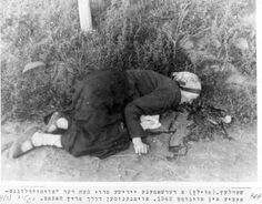 """Siedlce, Poland, 1942, The body of a woman shot during an """"Aktion""""."""