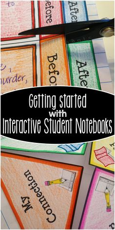 Video Post all about getting started with interactive notebooks in your classroom!!