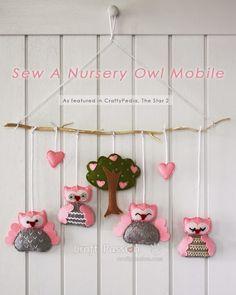 Mimin baby: móbile para berço - corujinhas