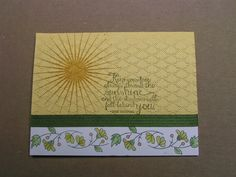 Stampin' Kat: Sunshine with a Border......