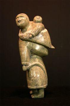 Inuit sculpture.........Mary Oshiutsaik