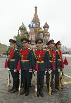 Russian Guards in Moscow, Russia. (V)