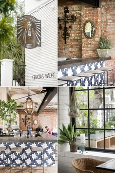 Gracias Madre: plant-based (vegetarian & vegan) Mexican-inspired restaurant in West Hollywood, California Mexican Restaurant Design, Restaurant Interior Design, Cafe Interior, Interior Sketch, Commercial Design, Commercial Interiors, Hotel Restaurant, Restaurant Insurance, Restaurant Counter