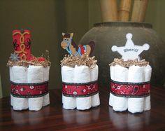 QUATRE gâteaux de couches Mini nautique par MrsHeckelDiaperCakes