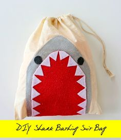 Shark Swimsuit Bag