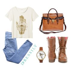 Hello, weekend! Get comfy in a tee, jean, boots and an easy bag. Neutral shades and blue denim gives off casual vibes that all of us can try the next time we get. Happy weekend! www.dressi.ly