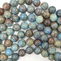 "10 mm Azurite Faceted Round Beads Gemstone Collier 18/"""