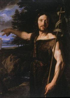 """St. John the Baptist by Philippe de Champaigne. """"The next day John saw Jesus coming toward him, and said, 'Behold! The Lamb of God who takes away the sin of the world!'"""" John 1:29"""