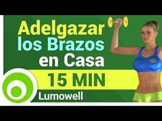 Ejercicios para Brazos, Hombros, Pecho y Espalda con Mancuernas - Tonificar y Definir - YouTube