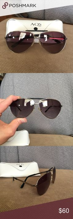 AQS Aviator Sunglasses Brand new, never been worn Aquaswiss James sunglasses. They are quite dark until the sun hits them. AQS Accessories Sunglasses