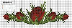 rosas Photography Subjects subjects in photography course Cross Stitch Rose, Cross Stitch Borders, Cross Stitch Flowers, Cross Stitch Designs, Cross Stitching, Cross Stitch Embroidery, Cross Stitch Patterns, Patterns In Nature, Flower Patterns