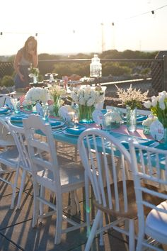 Pretty engagement party table