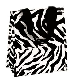 Jazz up your lunch routine with a zebra print lunch bag