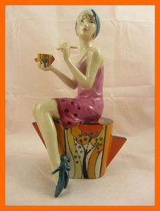 KEVIN FRANCIS Clarice Cliff Art Deco Imitating Life Lady Figurine LIMITED CERT